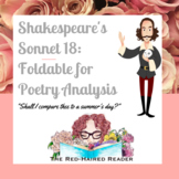 Shakespeare's Sonnet 18 foldable for poetry analysis