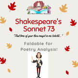 Shakespeare's Sonnet 73 Foldable for Poetry Analysis