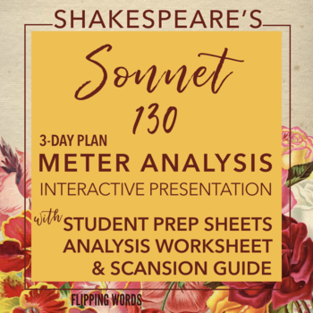 Iambic Pentameter, Meter & Rhyme Poetry Analysis, Shakespeare Sonnet 91