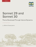 Shakespeare's Sonnets 29 and 30: Theme Developed Through I
