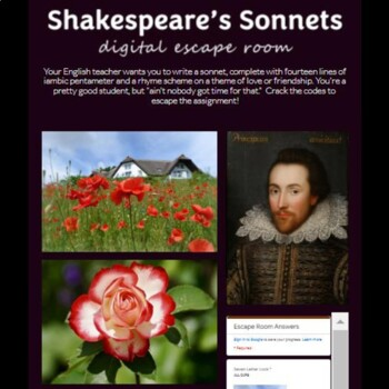 Shakespeare's Sonnets Digital Lock Box Escape Room Game