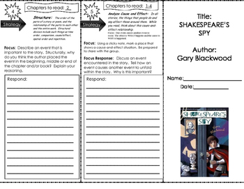 Shakespeare's Spy Chapters 1-4 Trifold