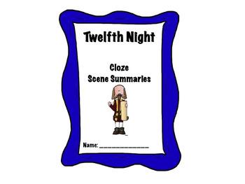Shakespeare's Twelfth Night Scene Cloze