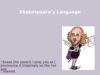 Shakespeare's language power point.