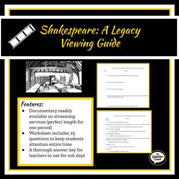 Shakespeare: the Legacy Viewing Guide by Wordsmiths Unite ...