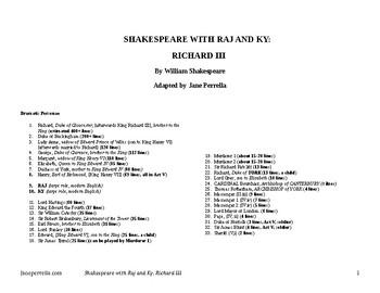 Shakespeare with Raj and Ky: Richard III