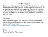 Shakespearean Insult Log