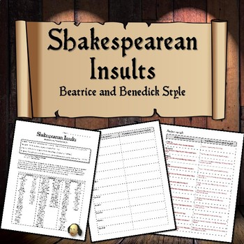 Shakespearean Insults (Beatrice and Benedick Style)