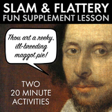 Shakespearean Slam, Insults & Flattery Contests, for ANY Shakespeare Play, CCSS