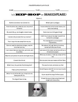 Shakespearean Language Activities