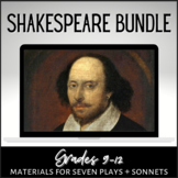 Shakespearean Literature FULL COURSE Bundle