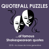 Shakespearean 'Quotefall' puzzles