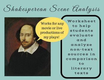 Shakespearean Scene Analysis--Compare Non-Text (film and live) to Literary Text