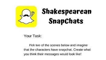 Shakespearean SnapChats - Romeo and Juliet