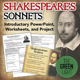 Shakespeare's Sonnets Introductory PowerPoint, Worksheets, Project