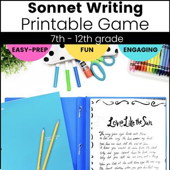 Shakespearean Sonnet Card Writing Game