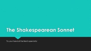 Shakespearean Sonnet Introduction