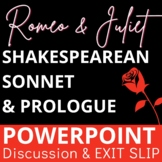 Shakespearean Sonnet and Romeo and Juliet Introduction PowerPoint