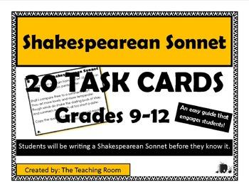 Shakespearean Sonnet Task Cards