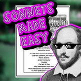 Shakespearean Sonnets 101 Handout