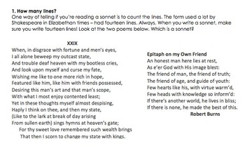 Shakespearean Sonnets - All you need to know
