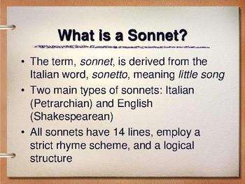 Shakespearean Sonnets Introduction