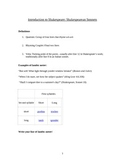 Shakespearean Sonnets: Introduction Lesson to Form, Meter,