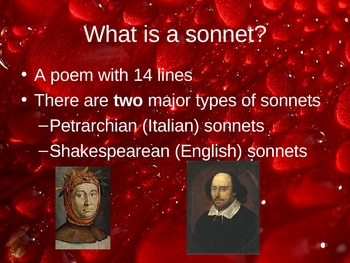 Shakespearean Sonnets Introduction Powerpoint