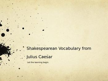 Shakespearean Vocabulary from Julius Caesar