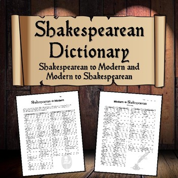 Shakespearean to Modern Dictionary