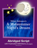 A Midsummer Night's Dream-Abridged Play Script
