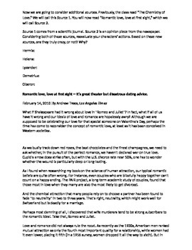 Shakespeare's A Midsummer Night's Dream Lovers/ Madmen Analysis & Argument