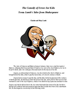 Shakespeare's Comedy of Errors for Kids