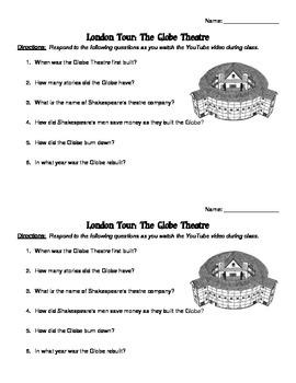 Shakespeare's Globe Worksheet