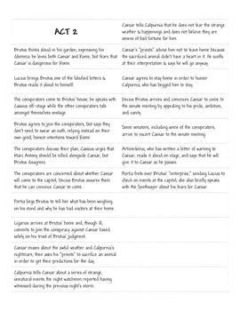 Shakespeare's Julius Caesar Plot Activity / Lesson