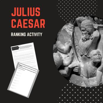 Shakespeare's Julius Caesar Critical Thinking Ranking Activity