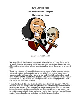 Shakespeare's King Lear for Kids