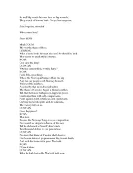 Shakespeare's Macbeth-Digital Format