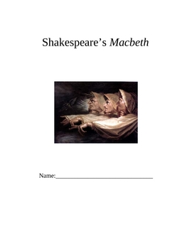 Shakespeare's Macbeth Handout Booklet