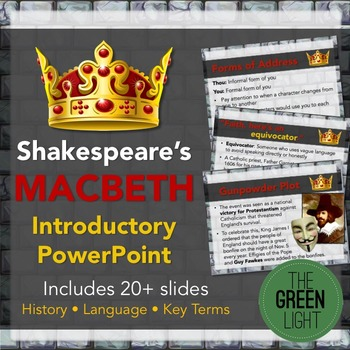 Shakespeare's Macbeth Introductory PowerPoint and Discussion Questions