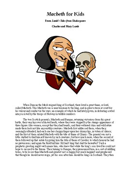 Shakespeare's Macbeth for Kids