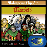 "Shakespeare's ""Macbeth""Clip-Art (16 pc. BW and Color!)"