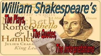 Shakespeare's Interpretations Activities PowerPoint, featu