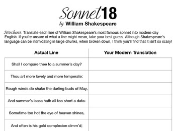 meaning of sonnet 18 by william shakespeare