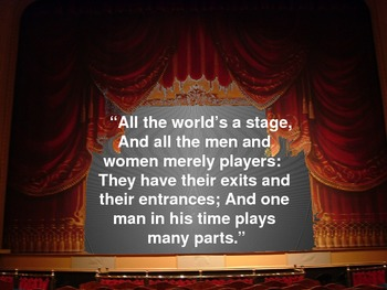 """Shakespeare's """"The Seven Ages of Man"""" (PowerPoint)"""