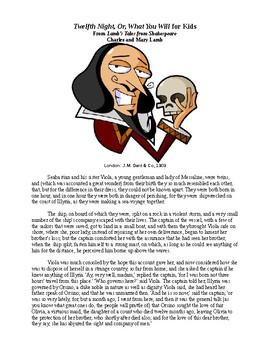 Shakespeare's Twelfth Night for Kids