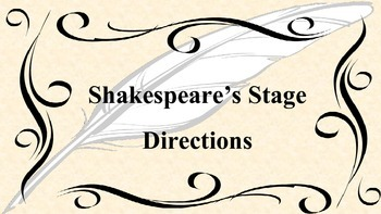 Shakespear's Stage Directions