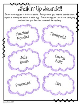 Shakin' Up Sounds: Spring Activity for Learning About Sound