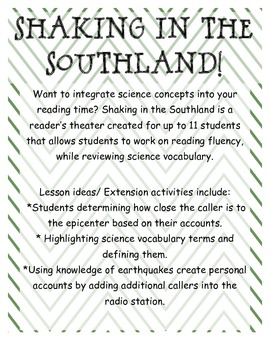 Shaking in the Southland: Readers Theater