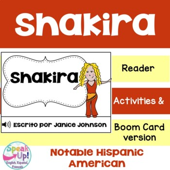 Shakira Reader {Hispanic Heritage Month} Organizer & Timeline {En español}